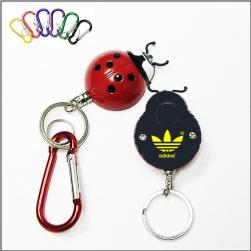 Printed Logo Ladybug Keychain Lights