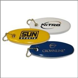 Custom Imprinted Oval Key Floats