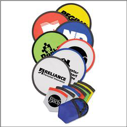 Imprinted Logo on Folding Frisbee Flyer